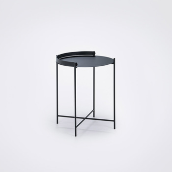 Уличный стол Houe 10911 1212 Edge Tray table Diametr 46 cm black /black legs