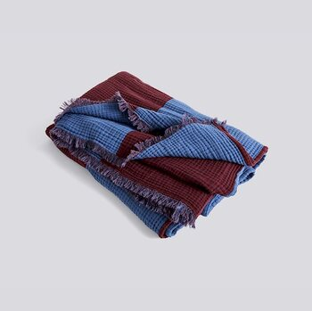 Плед HAY Crinkle Stripe Plaid colour Burgundy