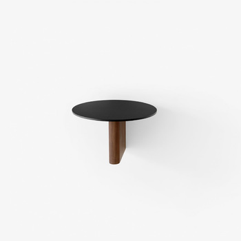 Полка &Tradition Column JA1 Ø: 25cm, black aluminium &solid walnut
