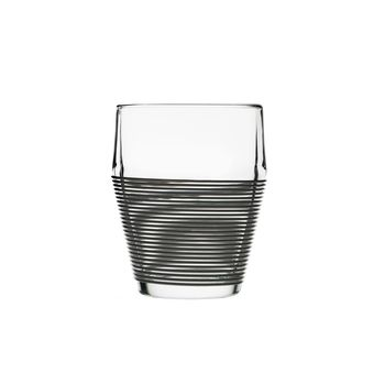 Набор стаканов 2 шт. Design House Stockholm Timo termo black stripe